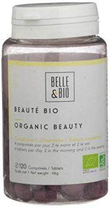 Belle&Bio – Beauté Bio – 120 comprimés – Éclat – Certifié Bio par Ecocert – Carotte, Pensée sauvage, OPC de Raisin et Bourrache – Fabriqué en France