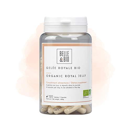 Belle&Bio – Gelée Royale Bio – 120 Gélules – 600 mg/Jour – Anti-Fatigue – Certifié Bio par Ecocert – Fabriqué en France