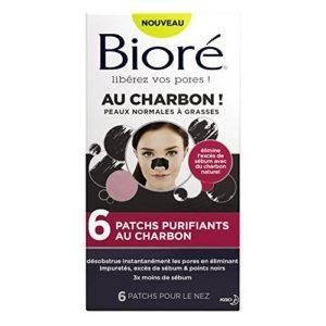 BIORÉ Set de 6 Patchs Purifiants au Charbon – Lot de 2