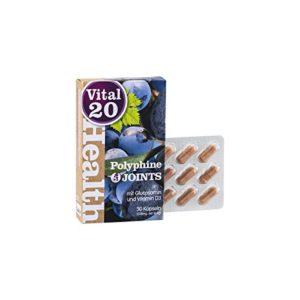 BON POUR LES ARTICULATIONS Polyphines JOINTS | OPC à haute dose et polyphénols de raisins rouges | avec vitamines C, D et K | riches en glucosamines | 30 capsules végétaliennes, dose max. 30 jours
