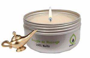 Bougie de massage 1001 Nuits, 100% végétale, sans parabène,longue durée