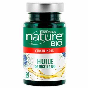 Boutique Nature – Complément Alimentaire – Huile de Nigelle – 60 Gélules Végétales – Renforce les défenses immunitaires.