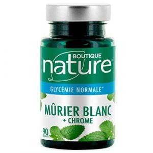 Boutique Nature – Complément Alimentaire – Murier Blanc + Chrome – 90 Gélules Végétales – Contribue au maintien d'une glycémie normale