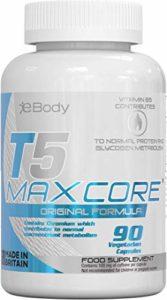 Brûleurs de Graisse T5 Maxcore   Les Meilleures Pilules Amincissantes Super Puissantes   Les Pilules de Régime de Perte de Poids T5 (90 Capsules Végétariennes)