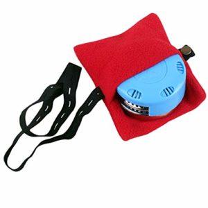 camellia® Épaississement moxibustion Plastique 100% métal Moxa Roll Stick Burner Box Titulaire Easy Way cône Portable respectueux de l'environnement des Soins de santé (Bleu)