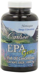 Carlson – EPA Gems Huile de Poisson Concentrate 1000 mg – 120 Gélules