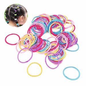 Cdet Cheveux Cravate Petit Accessoires Cheveux pour Bébé Fille Enfant 100PCS Couleur aléatoire