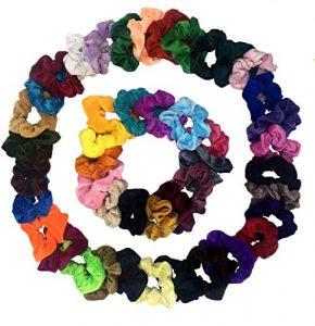 Cheveux Velours Élastique Chouchous, Spalexe Lot de 45 Multicolore Cheveux bandeaux Liens Cordes Pour Femmes Ou Filles Accessoires De Cheveux