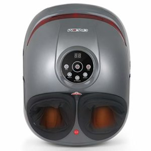 CINCOM Masseurs de Pieds avec Compression Air Chaud à 3 Intensités Minuterie D'arrêt Automatique pour 2 Modes de Relaxation