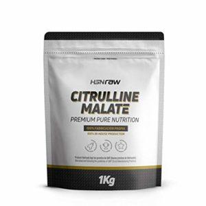 Citrulline Malate en poudre HSN Raw | Vasodilatateur, Oxyde Nitrique | Pré-entraînement pour améliorer la performance Athlétique, Endurance Musculaire, Végétalien, Sans Gluten, Sans Lactose, 1000g