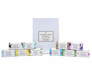 Clovelly Soap Co. Assortiment 10 Savons Naturels Faits Main – pour Invités – Mix de Parfums