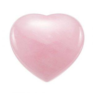 Cœur en quartz rose naturel CrystalTears – Pierre de relaxation, de guérison et d'équilibrage de chakra pour Reiki