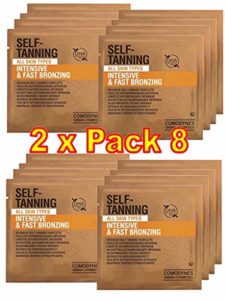 Comodynes – Self Tanning Intensive + Uniform Color – Lingettes Autobronzantes Intensives – Lot de 2 x 8 Lingettes