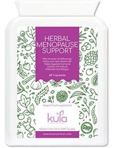 Contribue au soulagement de la ménopause – 60 Capsules – Formule avancée composée de fines herbes, de vitamines et de minéraux comprenant les isoflavones de soja, trèfle rouge, Vit B6, zinc et plus.