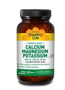 Country Life – Calcium-Magnésium-Potassium 90 Comprimés