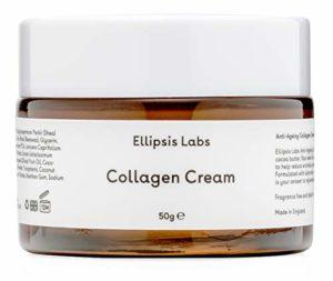 Crème Collagène hydratante visage d'Ellipsis Labs pour le visage et les mains. Une crème anti-âge pour le visage conçue pour augmenter la synthèse du collagène et réparer la peau. (50 grammes)