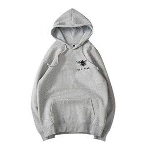 Crylee Capuche Sweat-Shirt T-Shirt Chemise Pullover Hauts Femmes Vêtements pour Femmes Automne et Hiver Couleur Unie Impression Manches Longues Col Rond La Mode Les Loisirs en Vrac Tous Les Jours