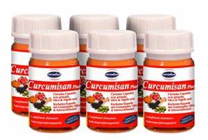 Curcumisan Plus Grand Pack: Curcuma fermenté avec Grenade, Olive & Cumin noir
