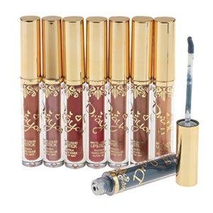 CUTICATE 8 Couleurs/Pack Maquillage Longue Durée Mate/Métal Brillant à Lèvres Liquide Gloss – 9# – 16#