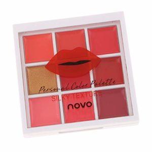 CUTICATE 9 Couleurs Maquillage Hydratant Rouge à Lèvres Brillant à Lèvres Blush Palette – 03 couleur chaude
