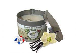 déliktess® – Bougie de massage Végétale 175 ml – parfums au choix : Monoï – Noix de Coco – Fleur d'Oranger ou Vanille – Fabriquée en France