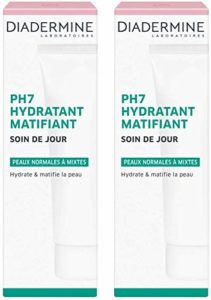 Diadermine – PH7 Soin de Jour Hydratant Matifiant – 50 ml lot de 2