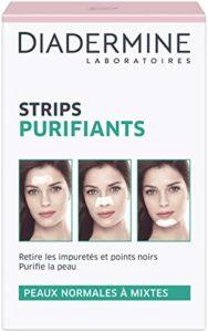 Diadermine – Strips Purifiants – 6 Strips anti points noirs et impuretés