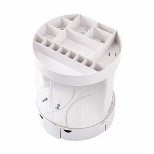 DKGBN Cosmétiques Boîte de Rangement, de Grande capacité Boîte de Rangement à tiroirs, for Placer Vos Convient favoris Fard à Joues, Ombre à paupières, cosmétiques Boîte de Rangement (Color : White)