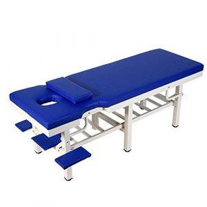DNNAL Table de Massage Massage Lit Multifonction ménages Vérifier Le lit Diagnostic Lits Spa avec Le Visage Trou,Bleu