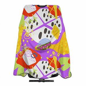 Dnwha Doodle Abstrait Trendy sans Couture Motif Professionnel de Salon de Coiffure, Châle en Polyester 55 x 66 cm, Convient pour Salon de Coiffure ou à la Maison