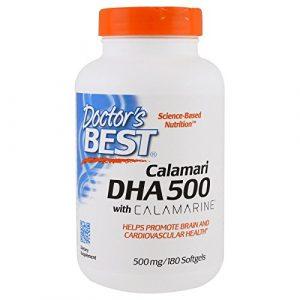 Doctor's Best, Best DHA 500 de Calamari, 500 mg, 180 Gélules