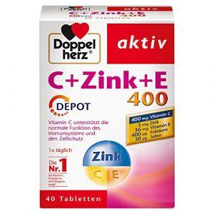 Double Cœur C + Zinc + E 400Depot 40Comprimés