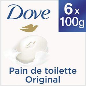 Dove Savon avec Crème Hydratante Originale, 6 x 100 g