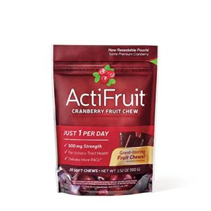Enzymatic Therapy ActiFruit Cranberry Supplement, 20 Soft Chews 2.1 x 3.7 x 3.6 inches