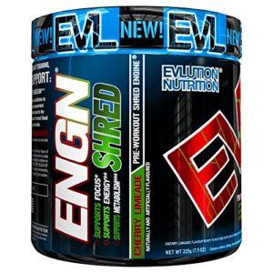 Evlution Nutrition ENGN SHRED | Supplément Pour La Réduction Du Poids| Poudre Pré-entraînement/Brûleur De Graisse | Augmente L'Energie | Formule Thermogénique | 30 Doses | Goût Limonade à La Cerise