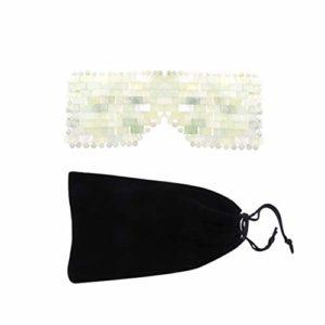 Exceart Masque pour Les Yeux en Cristal Anti-Vieillissement Yeux de Jade Patch Bandeau Fatigue Oculaire Cercle Sombre Blinder Couverture pour Voyage à La Maison