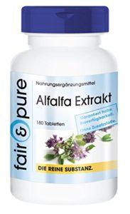 Extrait d'Alfalfa – Medicago sativa – substance pure – 180 comprimés – sans additifs