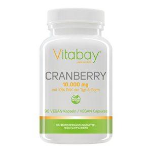 Extrait de canneberge 10 000 mg avec 10% de PAC (proanthocyanidides) – 90 capsules végétaliennes