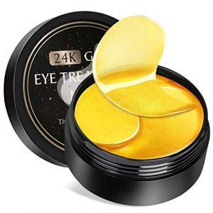 Eye Mask, Kastiny 30 Pairs Collagen Patch Yeux, 24K Gold Mask Yeux, Pour Les Cernes, Sacs Pour Les Yeux Gonflés Et Rides