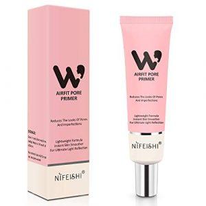 Face Makeup Primer, Pore Primer Face Makeup Base Cover Pores, Oil Control Moisturizing Essence Concealer Foundation – Pink