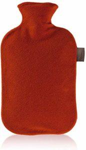 Fashy 6530 Bouillotte avec Housse Polaire Rouge cerise 2 L