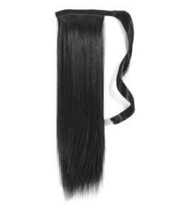 Forever Young Clip en queue de cheval extension de cheveux pour queue pièce extension de cheveux Noir de jais 1#