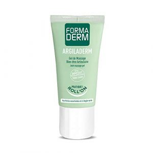 Formaderm – Gel Articulations Roll-On Argiladerm – Gel Massage à l'Argile Verte, Huiles Essentielles et Extraits de Plantes – Effet Froid Chaud Immédiat – Soulage les Douleurs Articulaires – 50 ml