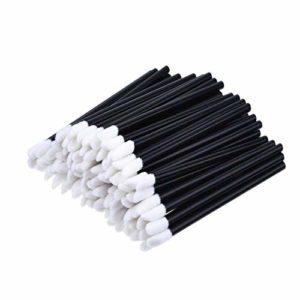 FOTN 100pcs à Usage Unique à lèvres Brosses Brosses Sticks Hygiène Batonets Brosses pour Le Maquillage Parfait pour Les testeurs