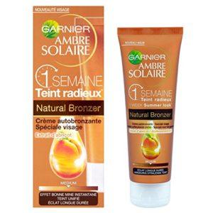Garnier – Ambre Solaire – Autobronzant Crème Médium – Ambre Solaire Naturel Bronzeur Visage