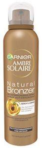 Garnier Ambre Solaire Spray autobronzant avec huile de noyau d'abricot, accélérateur de bronzage doré, 150 ml