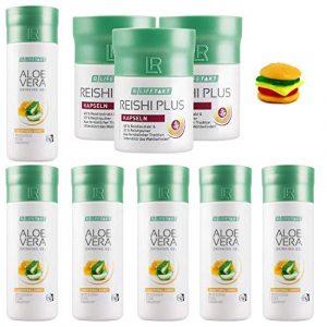 Gel à boire LR 6x au miel + Capsules de Reishi Plus (3 x 30 capsules) + Trolli Burger gratuit