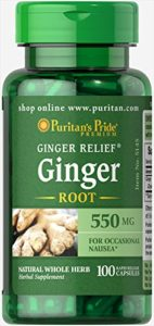 Ginger Root 550 mg 100 Capsules