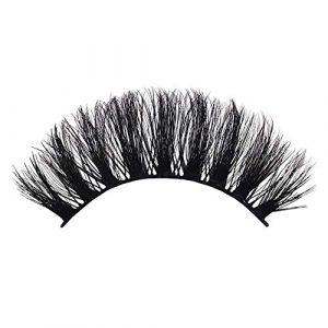 GreceMonday 3D Vison Faux Cils 100% Naturel Curl véritable sibérien Doux Mink Cheveux Faits à la Main de Mode Lashes Faux Noir
