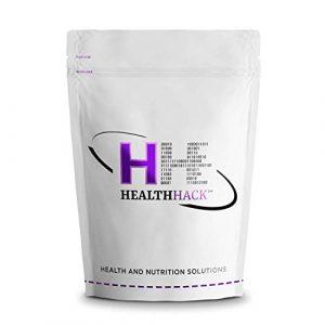 Health Hack – ProEarth Protéines de riz complet en poudre, concentrées à 80%, 1kg, Sans goût